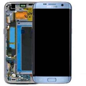 Samsung S7 Edge LCD Screen Complete With Frame New Coral Blue