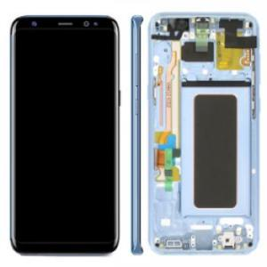 Samsung S8 Plus LCD Screen Complete With Frame Assembly Unit Coral Blue