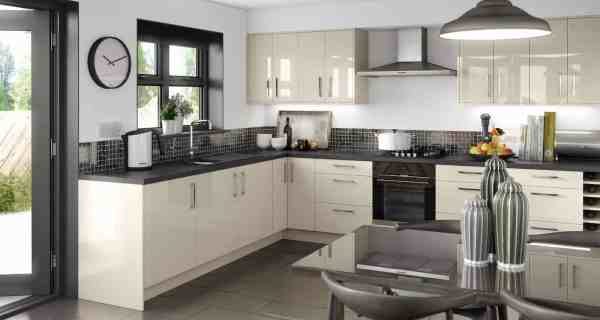 Alabaster Gloss Fitted Kitchens Portadown