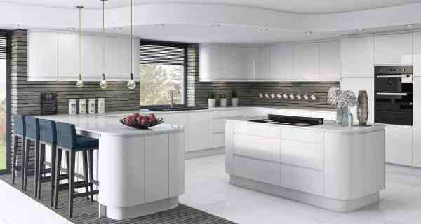 White Gloss Fitted Kitchens Portadown