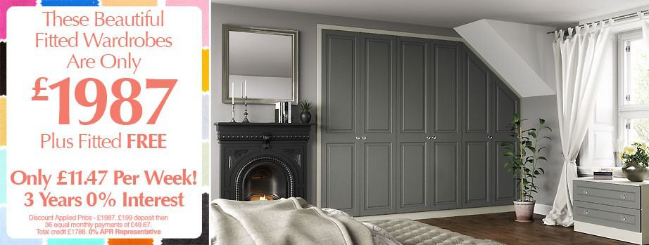 50% off plus extra 10% off fitted bedrooms
