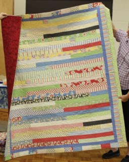 Dawn Schaben - Sister's quilt front and back