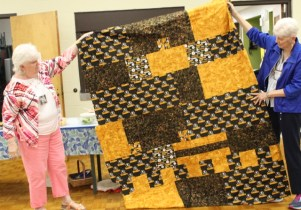 Donna Watts - Pittsburgh Steelers quilt back