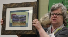 Diana Van Hise - Layered Landscape Collage by Donna Kittleson