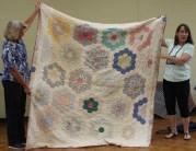 Kathy Wickham - Antique Grandmother's Flower Garden Quilt