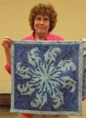 Ann Weaver - Quilt made using Faux Hawaiian Applique Stencil Technique