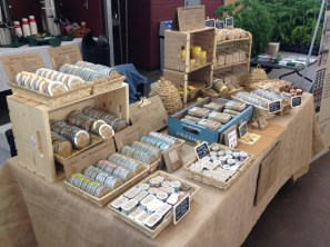 Beautifully set up natural bee-products