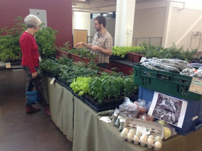 The smells of the veg and herbs from Country Thyme Farm greeted guests entering the showroom