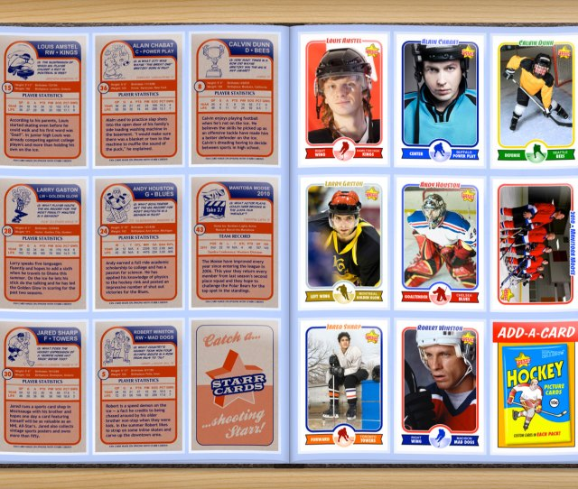 Make Your Own Custom Hockey Cards With Starr Cards