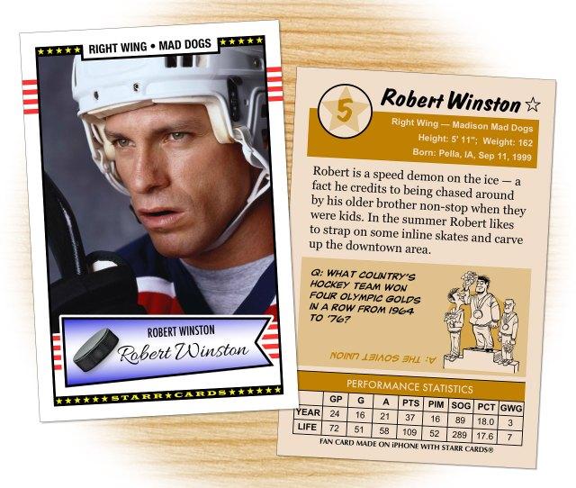 Hockey Card Template From Starr Cards Hockey Card Maker