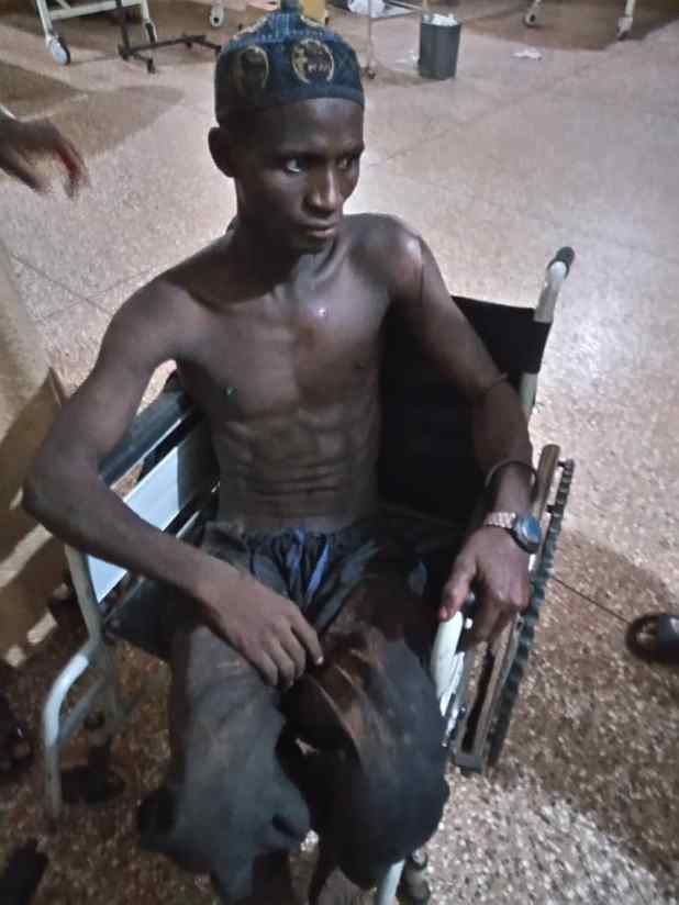 One of the injured herdsmen at the hospital