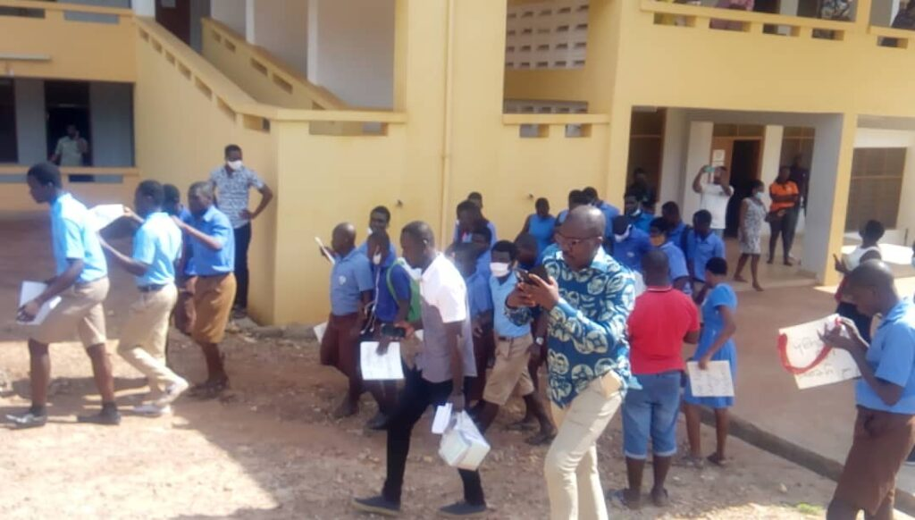 Akropong Sch. for the blind students protest; demand removal of 'abusive' headmistress 1