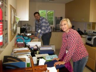 DRE and Council Chair preparing materials