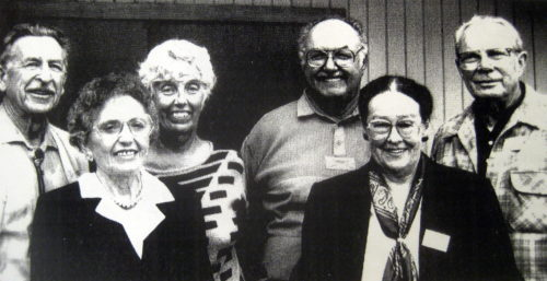 Founders photographed in 1969. Nate Thornton, Rose Paine, Jean and Bill Gaylord, Helen and Wink Smith
