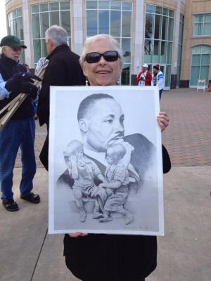 Jo with MLK poster
