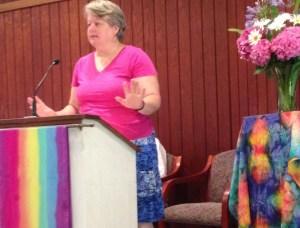 Guest speaker Becky Leyser