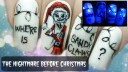 The Nightmare Before Christmas ⎮ Glow in the Dark Freehand Nail Art Tutorial