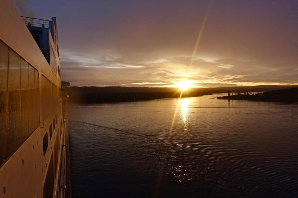 Sunset im Oslo-Fjord