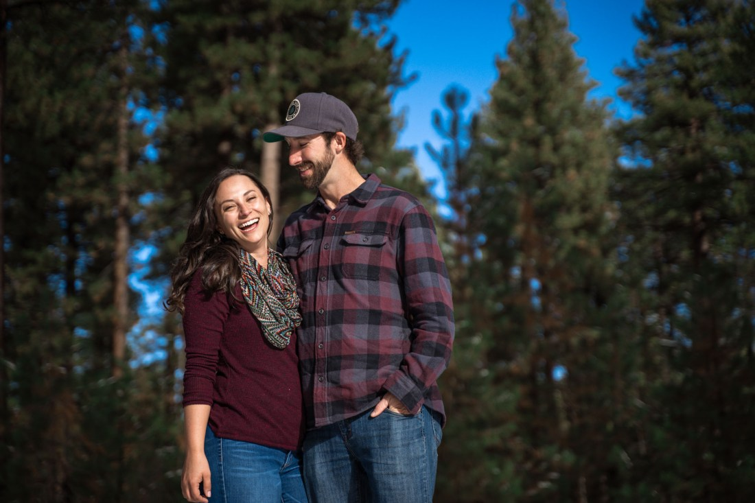 Lake Tahoe Wedding Photographer Starscape Studios at Lake Tahoe Engagement | Fallen Leaf Lake | Sara + Branden