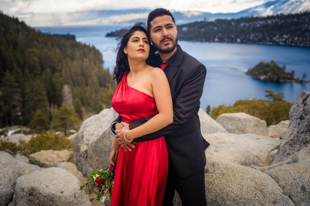 Engagement photography session at Emerald Bay Tahoe