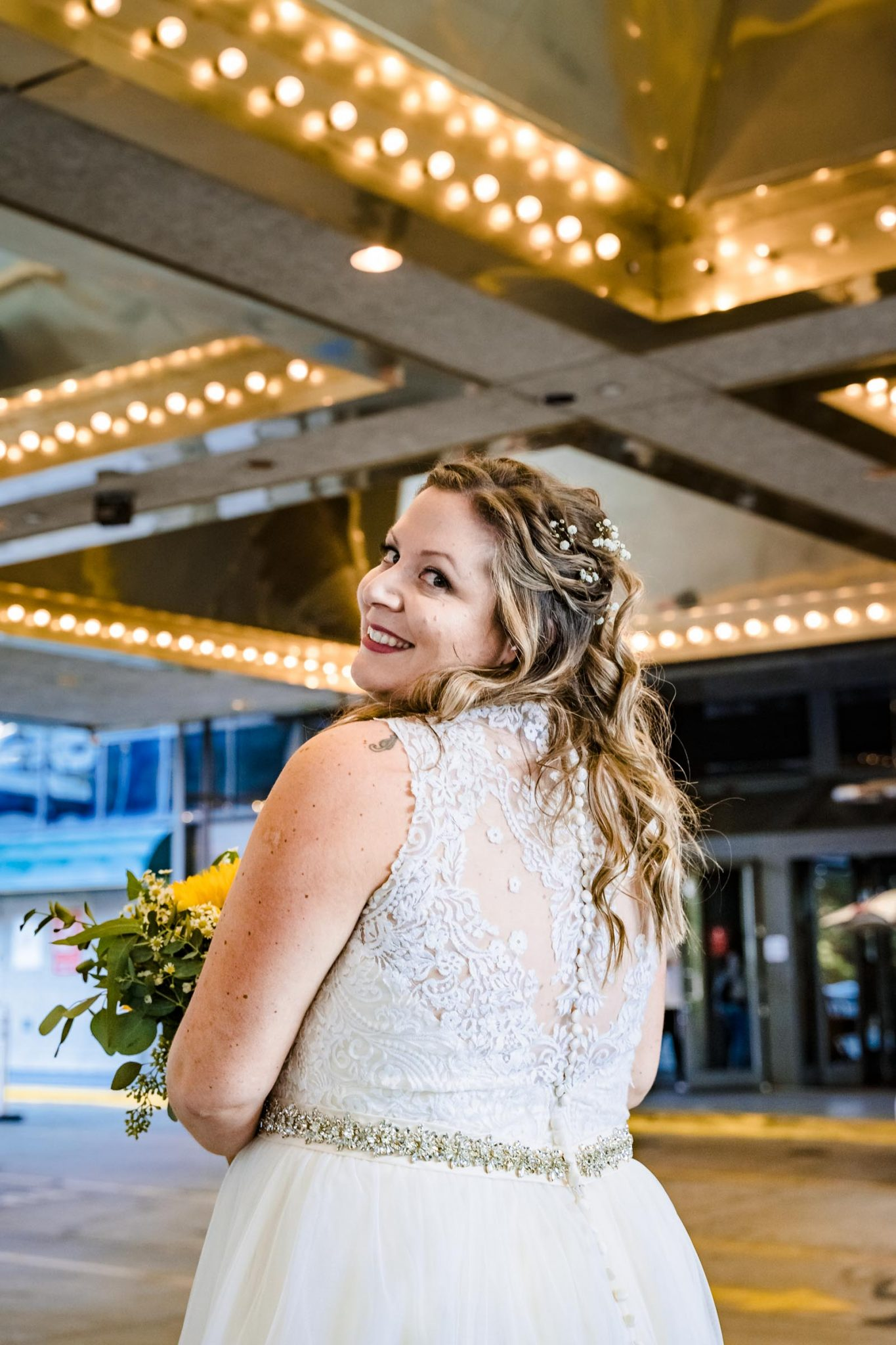 Bride getting ready at Harveys Harrahs wedding in South Lake Tahoe