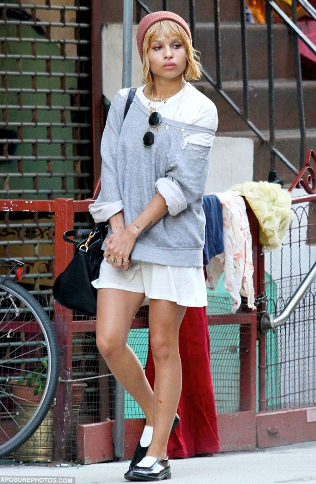Celebrity Zoe Kravitz Hair Changes Photos Video