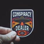 Conspiracy Dealer Sticker