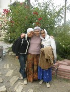 Posing with a local lady who helped clean the dergah