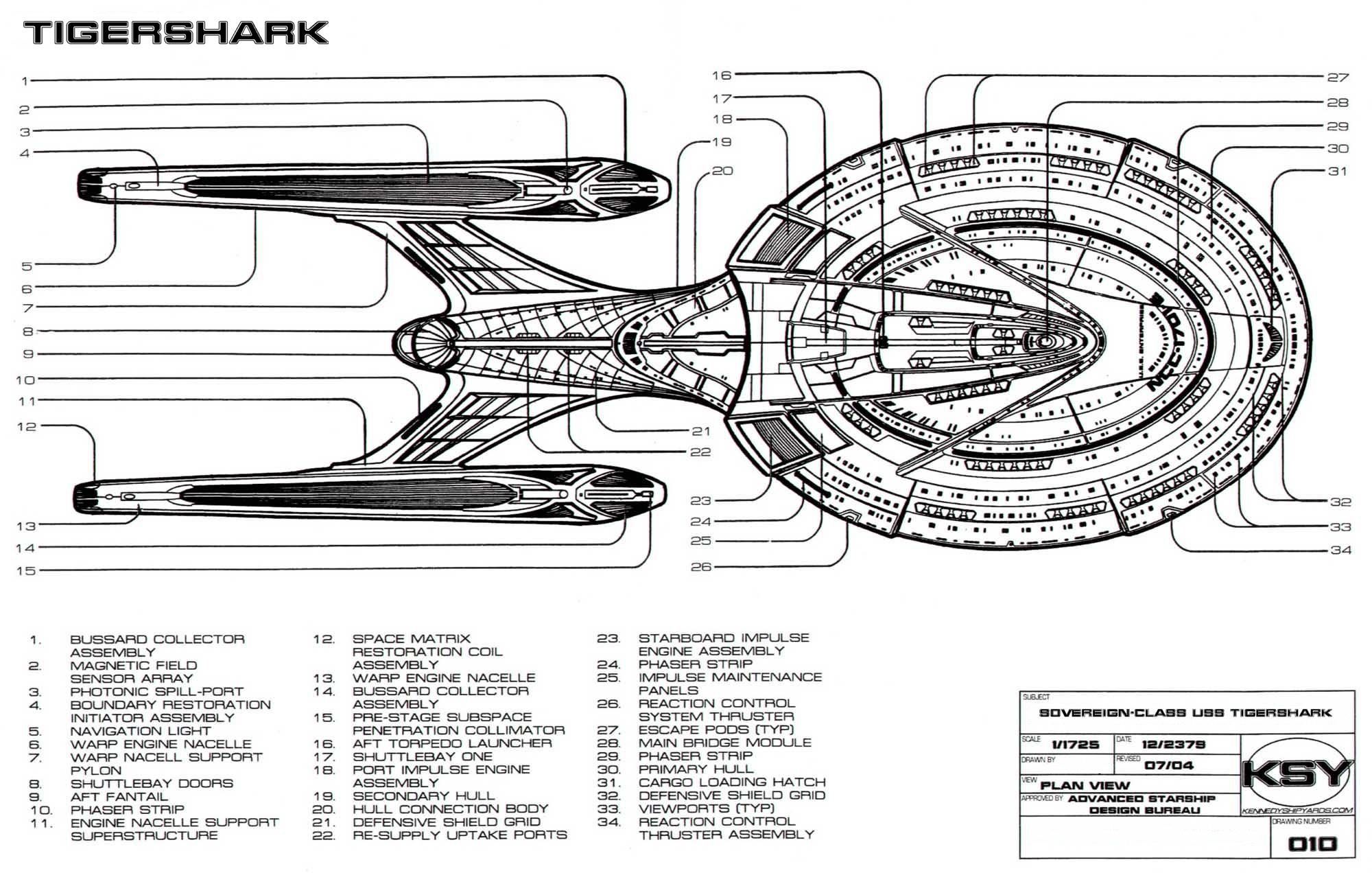 Uss Tigershark Schematics Amp Overview