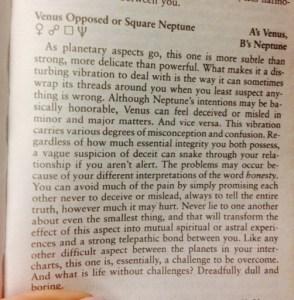 Neptune square Venus