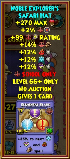 Crafted Gear Wizard101 Fire