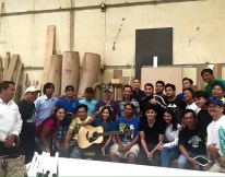 The team of JadINe Love World Tour with the woodcarvers at the industrial area of DohaMR (1)
