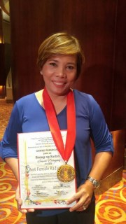 """DZBB anchor Susan Enriquez was named """"Best Female Radio Anchor"""" at this year's Gawad Tanglaw Awards"""