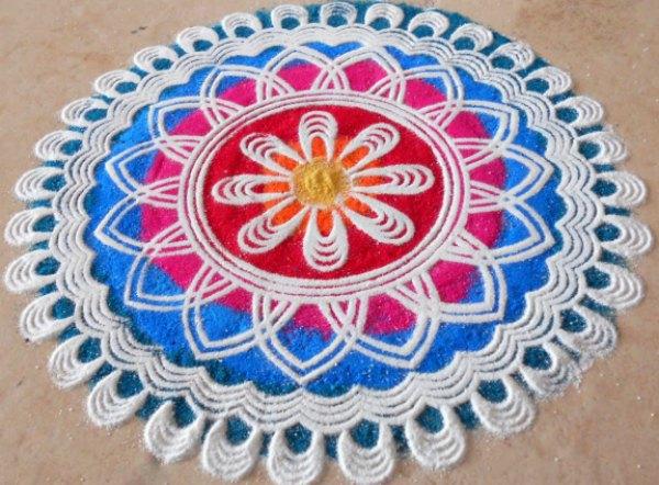 Latest Rangoli Designs For Diwali Starsricha