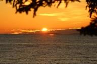 Pumpkin colored sunrise