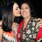 Preity Zinta with her mother Nilprabha