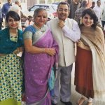 Vinod Dua With His Wife and Daughters