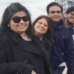dilip joshi with his wife and children