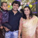yogesh tripathi with his wife and son