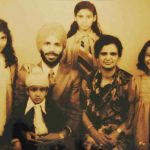 Milkha Singh With His Wife, Three Daughters and A Son