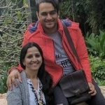 Siddharth Gupta mother with brother