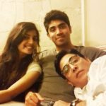 Aasif Sheikh with his children