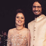 Abhishek Chaubey with his wife Chetana Kowshik