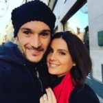 Hugo Lloris with his wife Marine Lloris