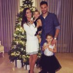 Hugo Lloris with his wife and children