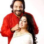 Sunali Rathod with her husband Roop Kumar Rathod
