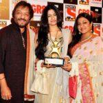 Sunali Rathod with her husband Roop Kumar Rathod and daughter Reewa Rathod