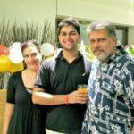 Kimi Katkar with her Son and Husband