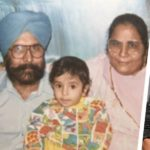 Amrinder Gill with his parents