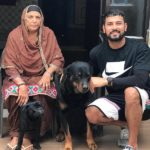 Garry Sandhu with his mother